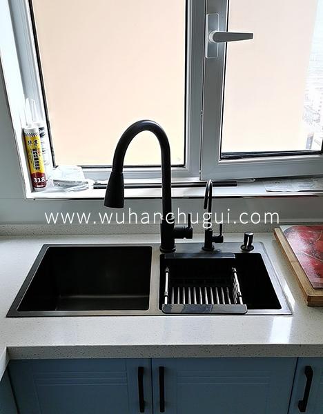 武汉橱柜水槽手工槽选择台下盆,台中盆,还是台上盆?